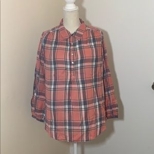 Lucky brand ½ button down flannel